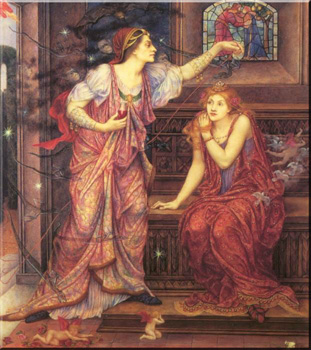 Queen Eleanor and Fair Rosamund by Evelyn de Morgan